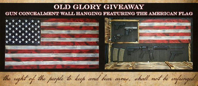 Old Glory Gun Concealment Wall Hanging American Flag Giveaway