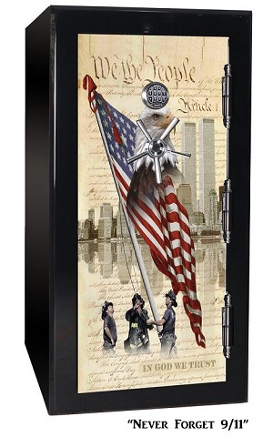 BR Series 24 Gun 2-Hour 1880 Fire Tactical Gun Safe - Never Forget 9/11