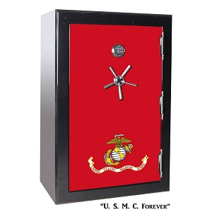 BR Series 39 Gun 2-Hour 1880 Fire Tactical Gun Safe - U.S.M.C. Forever Marine